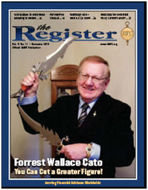 Forrest Wallace Cato on The Front Page of The IARFC Register 